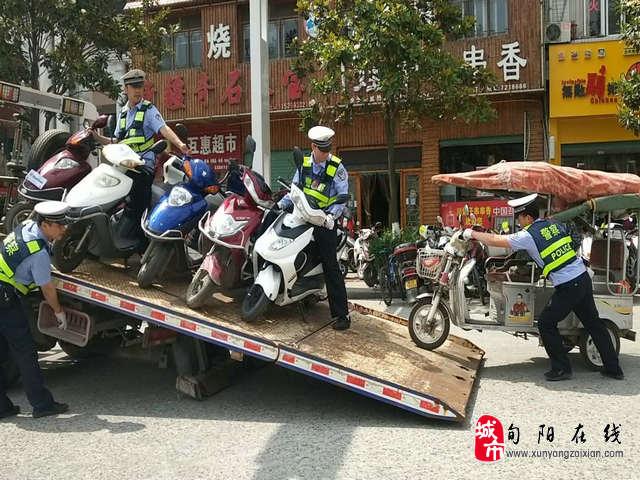 """旬阳县交警一中队积极开展""""僵尸车""""清理工作"""