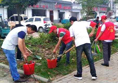 盱眙县五墩社区开展在职党员回社区