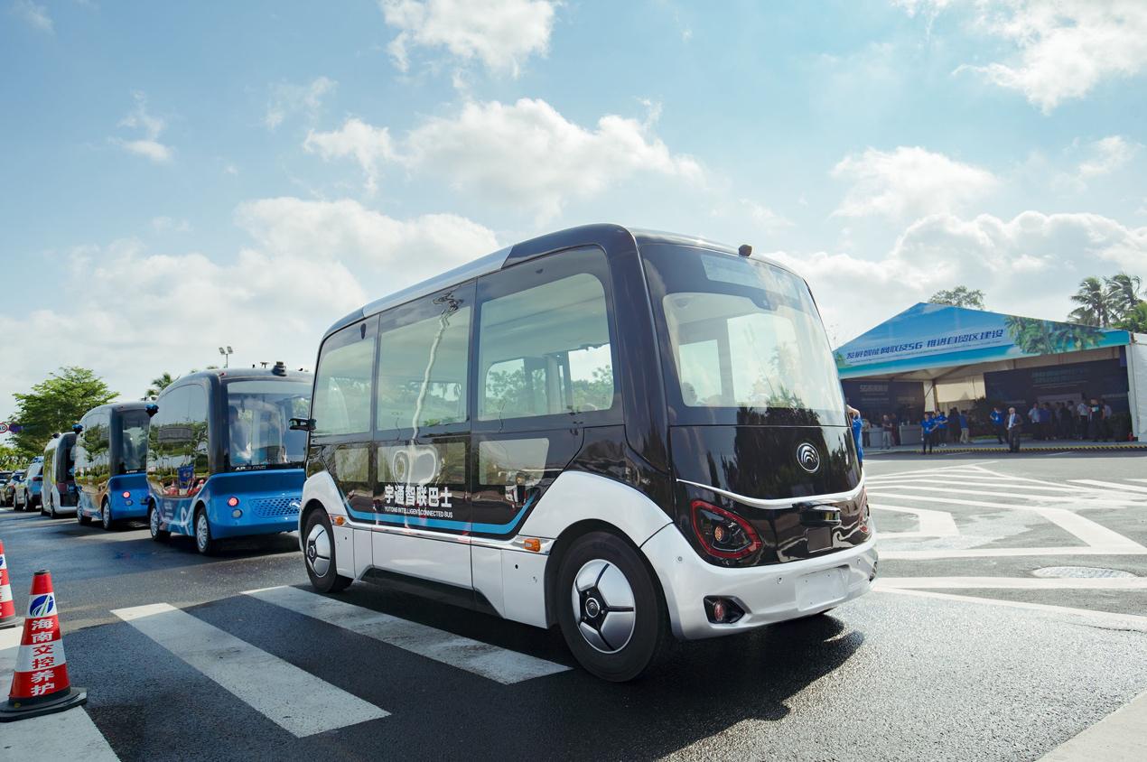 引领行业发展,宇通L4级自动驾驶巴士亮相博鳌亚洲论坛