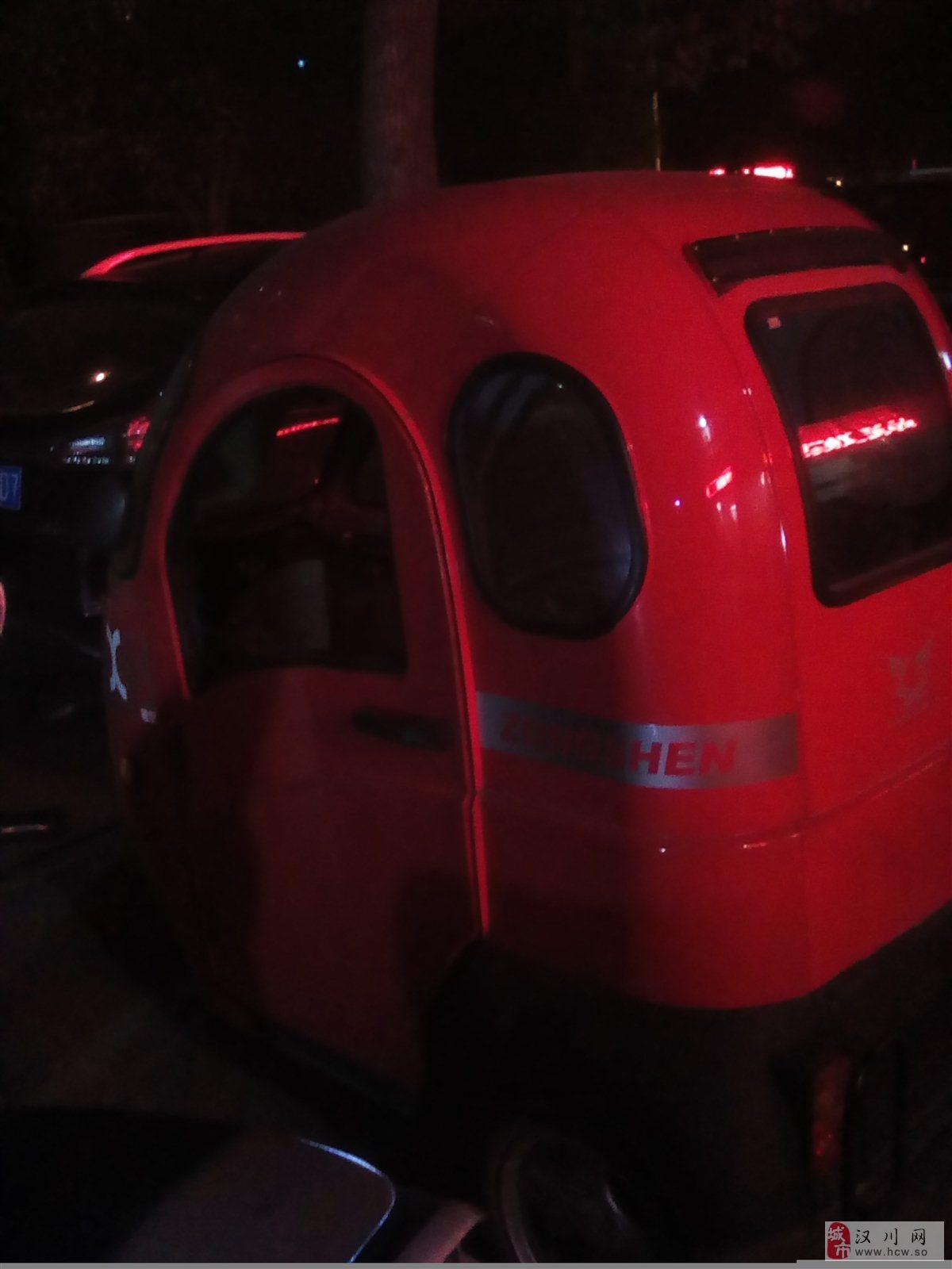 8成新超值宗申48V2组电瓶全封闭三轮车转让