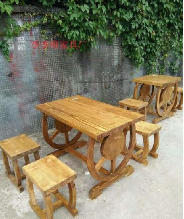 厂家直销碳烧木火锅桌,柴火灶,餐桌,
