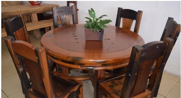 荆门老船木茶桌椅组合批发沉船木实木家具