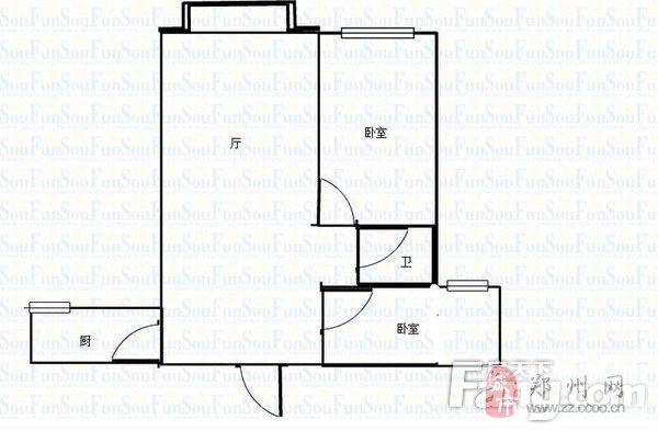 郑东新区财信圣堤亚纳两室出租