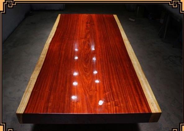 红花梨整体实木大板高档办公家具