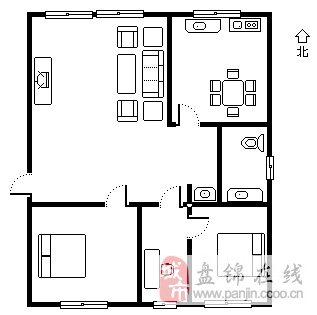 【幸福小區】2室2廳1衛41萬元拎包入住