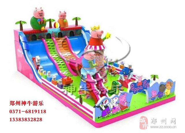 让我们和小猪佩奇一起玩充气城堡吧