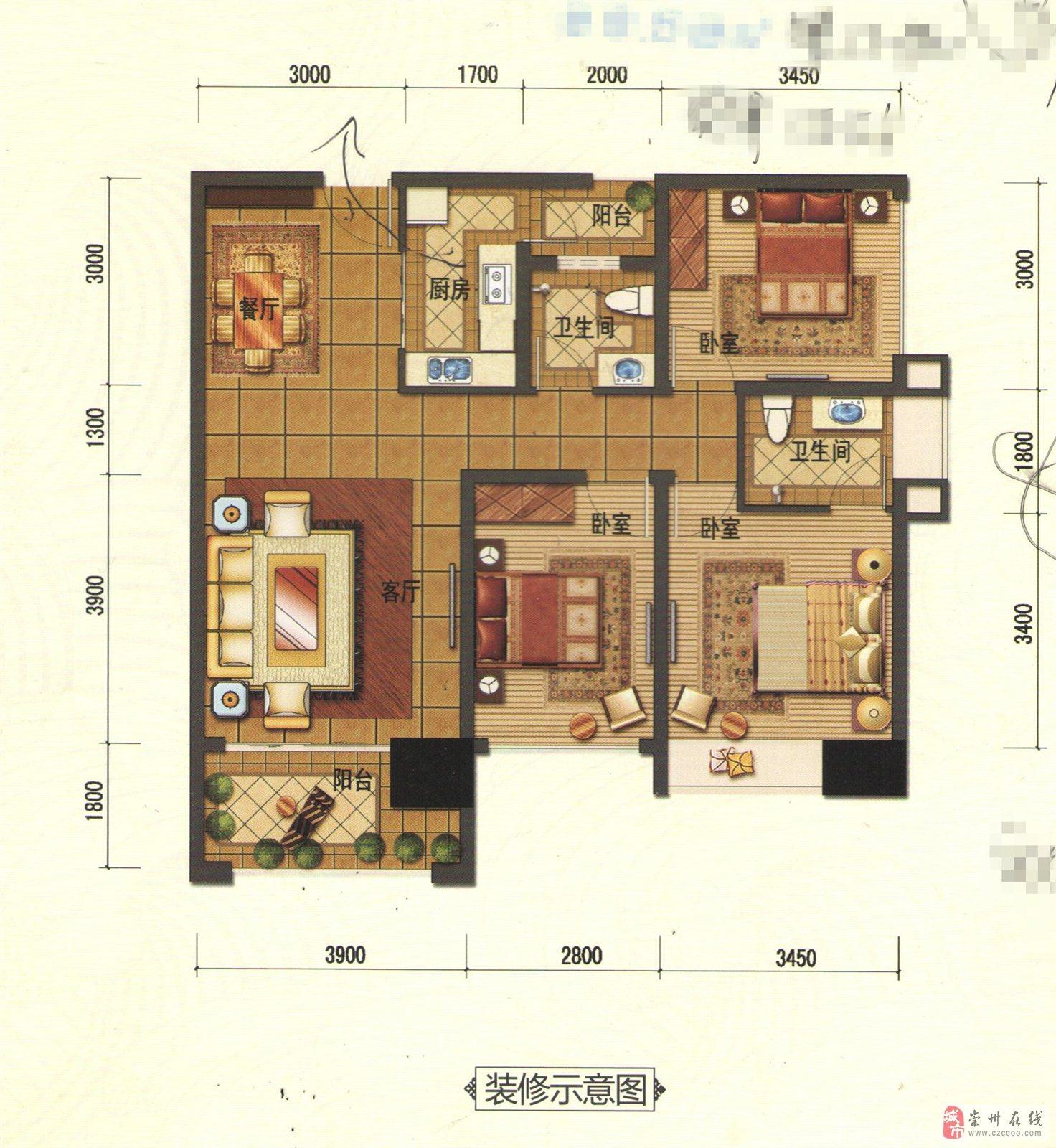 浣溪沙3室1厅2卫70万元