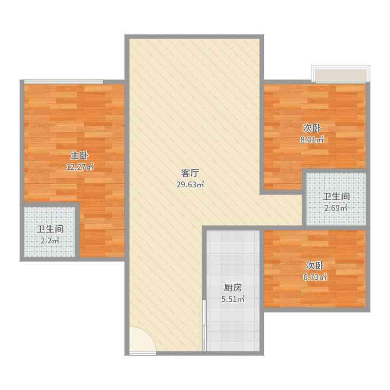 38.8万买时代广场电梯公寓,满两年,过户税费低!