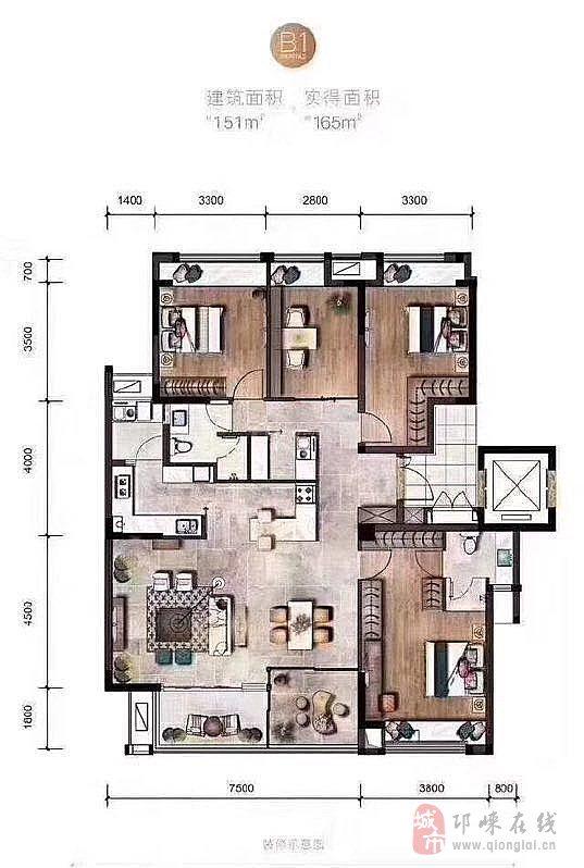 邛崃在线 app 价格相近房源 西滨纪4室2厅2卫125万元 高宇·滨水国际3