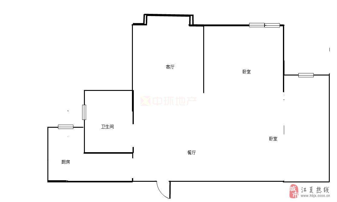 鸿发世纪城精品两房户型优美看房方便有钥匙
