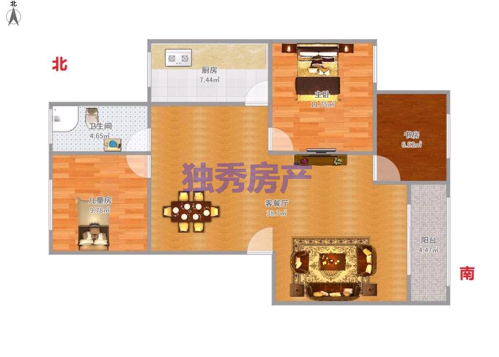 花园小区精装修3室2厅1卫业主急售