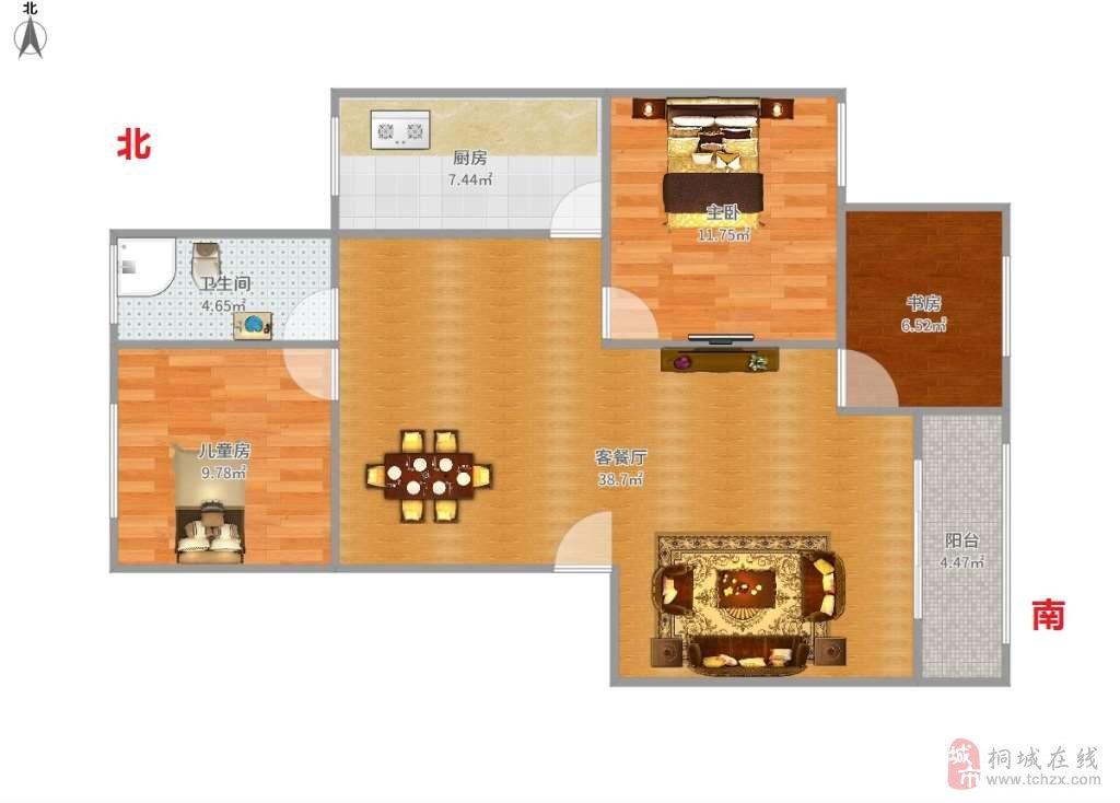 花园小区3室2厅1卫27.50万元城中心