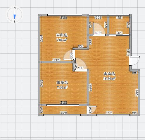 麒麟閣2室2廳1衛99萬元帶車庫