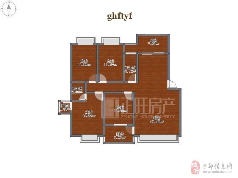 金沙游戏贡江新区顶尖小区,枫叶花园精装4房,难得好房!