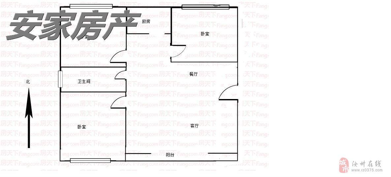 八团附近绿洲苑3室电梯房55万元