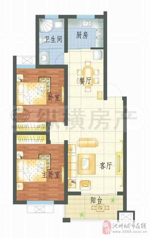 秀山門附近秀山苑精裝2室2廳1衛74.8萬元