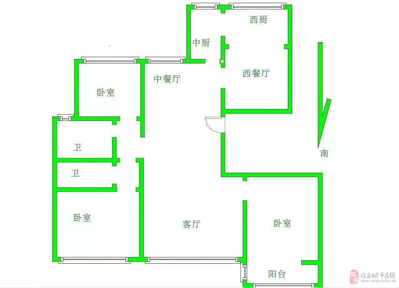 新政广场对面4室2厅2卫可接贷款40万