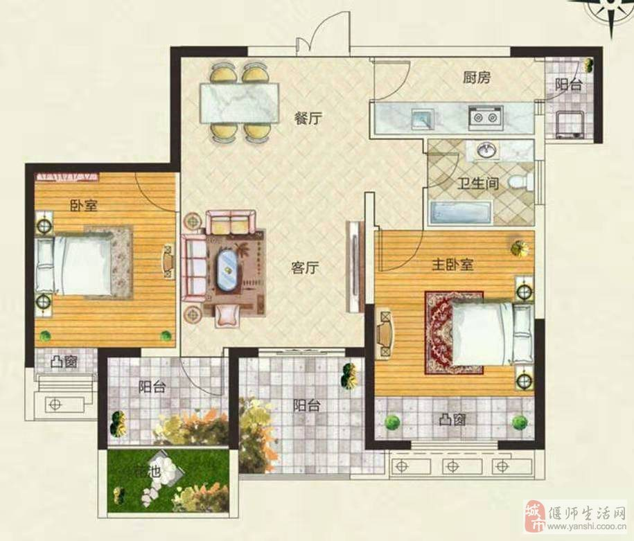 天明城学区房低于市场5万3室2厅1卫可贷款