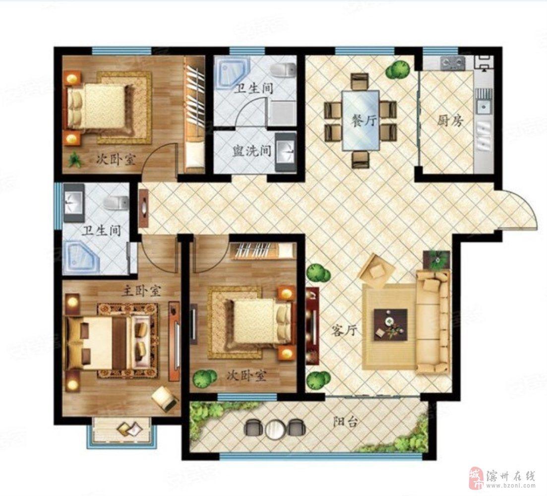 名仕龙城3室2厅1卫150万元