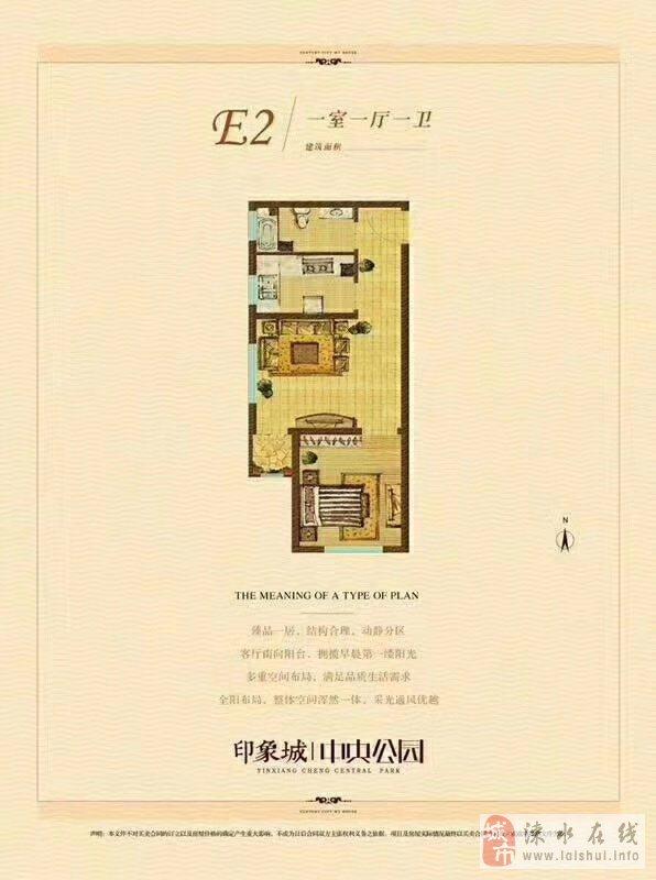 印象城·中央公园1室1厅1卫43万元