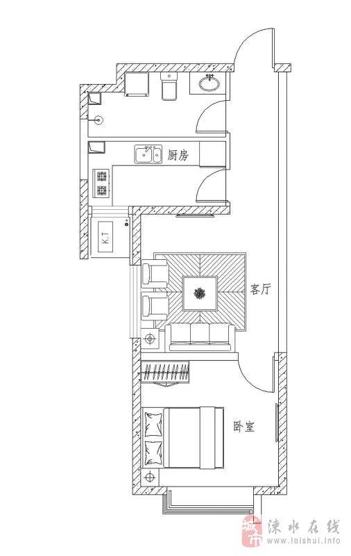 萬泰鑫城嘉園1室1廳1衛55萬元