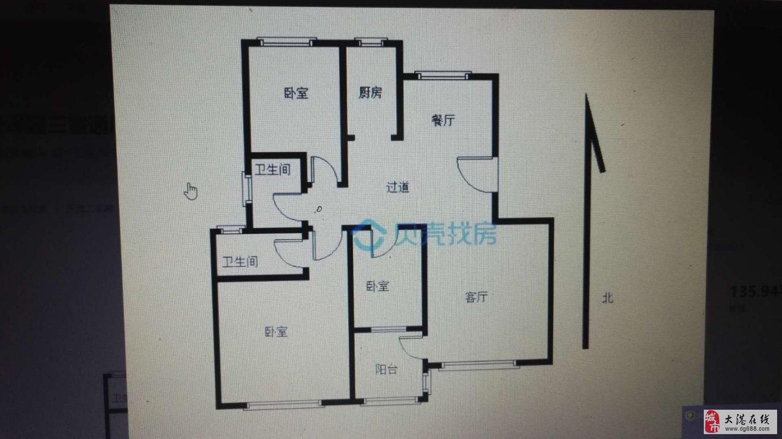 葡京娱乐网址迎宾街雅都天泽3室2厅2卫135.88平米精装修