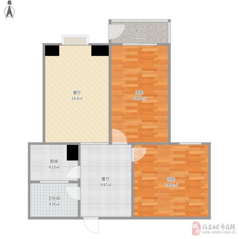 建材小区2室2厅2卫116万元