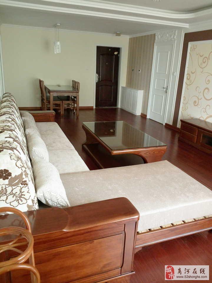 帝景城精装三室两厅两卫地暖空调家具家电齐全