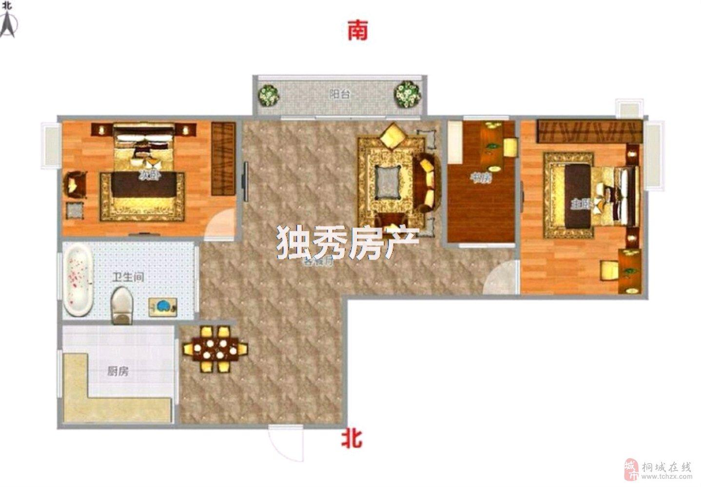香山公馆电梯毛坯3室2厅1卫50万元
