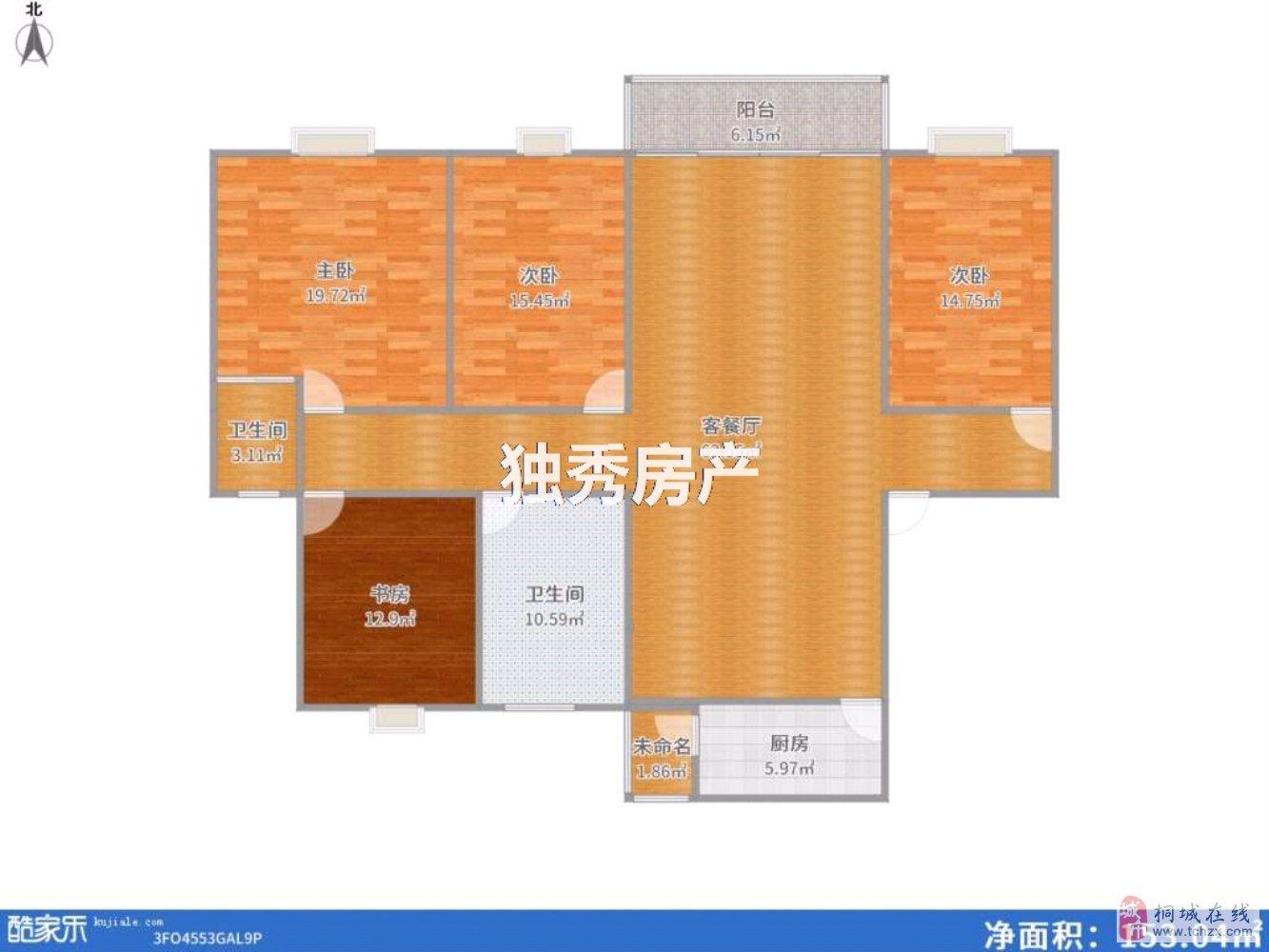 桐城碧桂园电梯高层复式楼精装四室环境优美