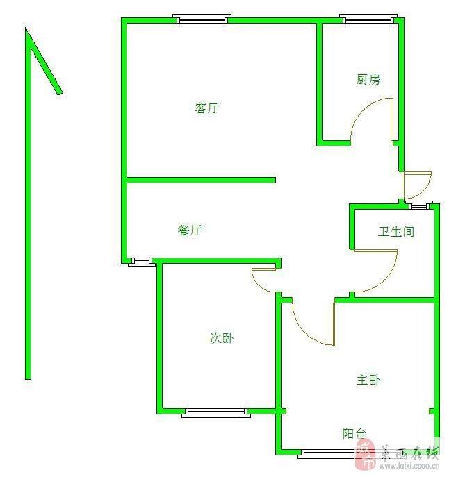 百合苑3樓102平可改三室帶車庫僅售69.8