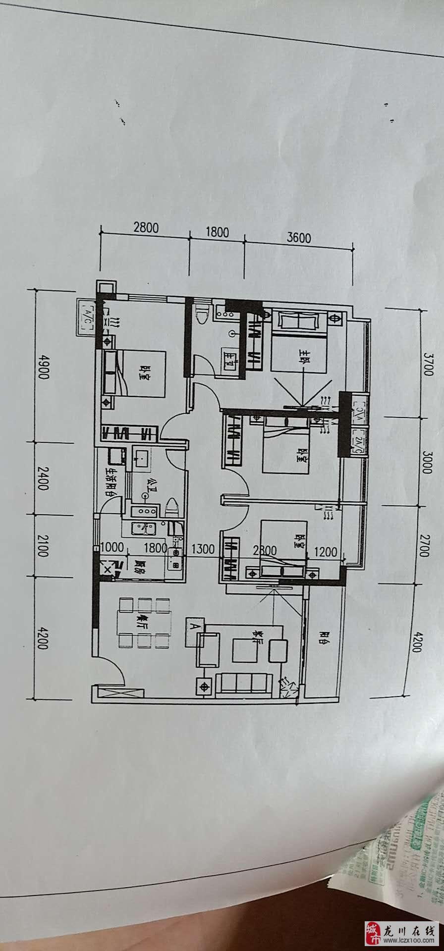 东江祥和苑135平米中层电梯毛坯江景四房售76万