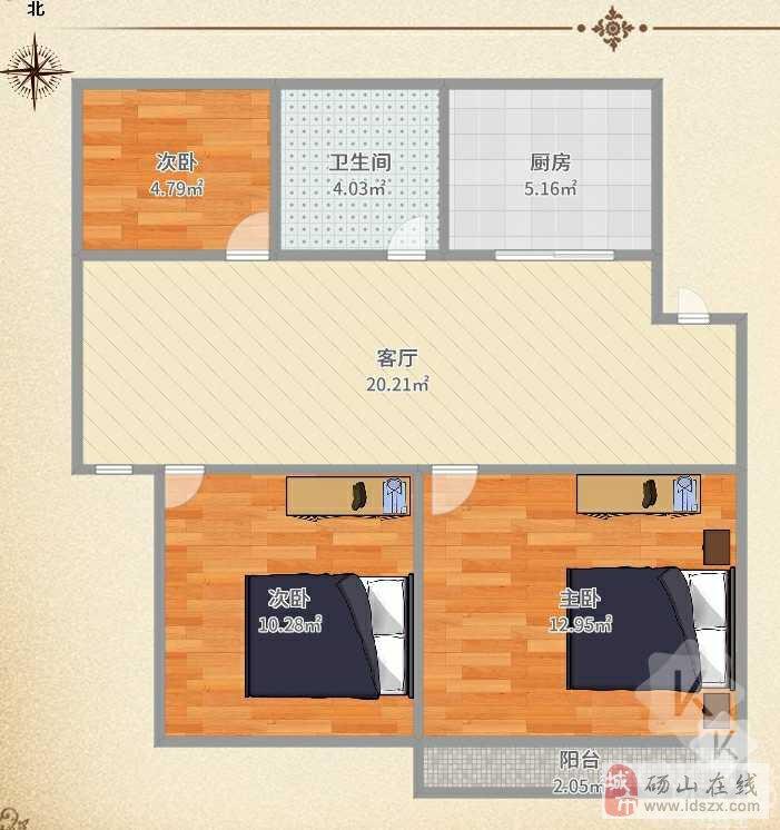 帝景水岸安置房边户三室两厅急售34万