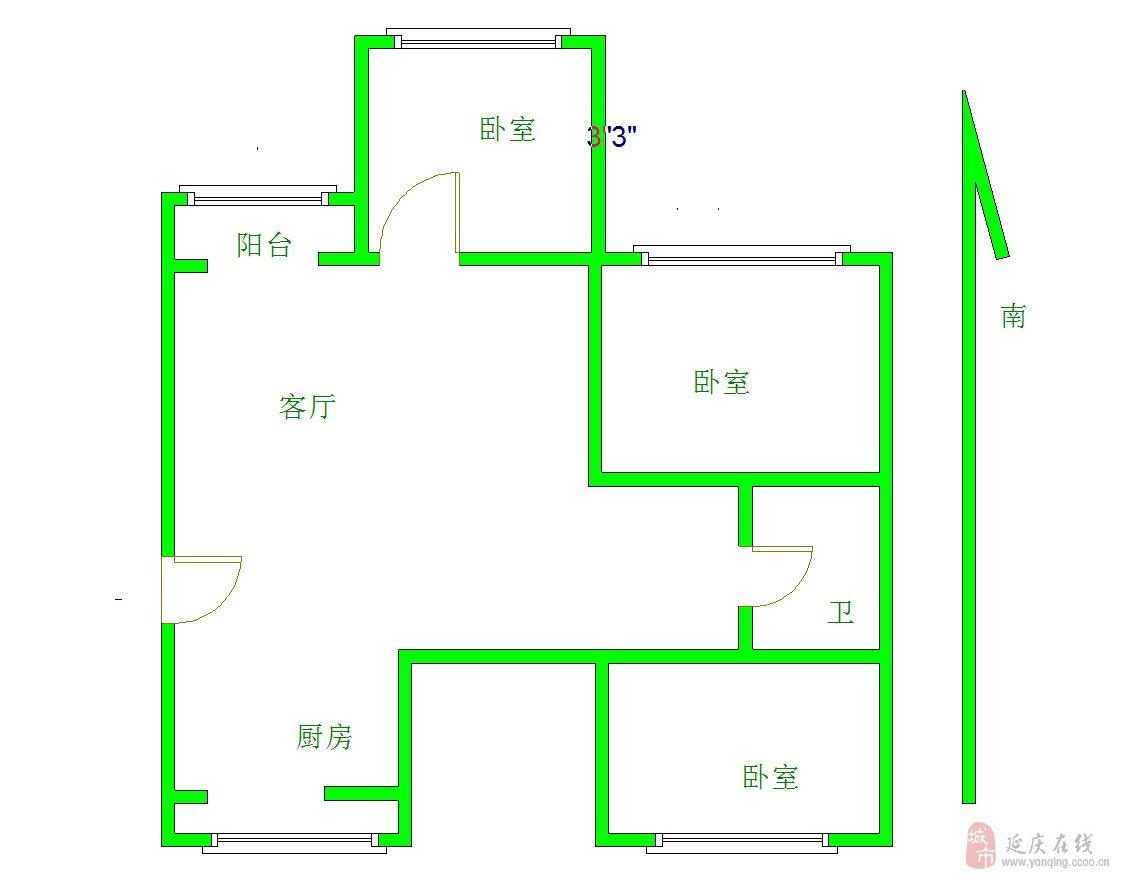 望都家园3室2厅1卫160万元