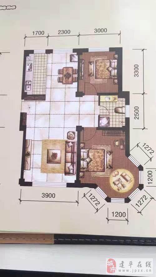 柏峰金域2室2厅1卫24万元