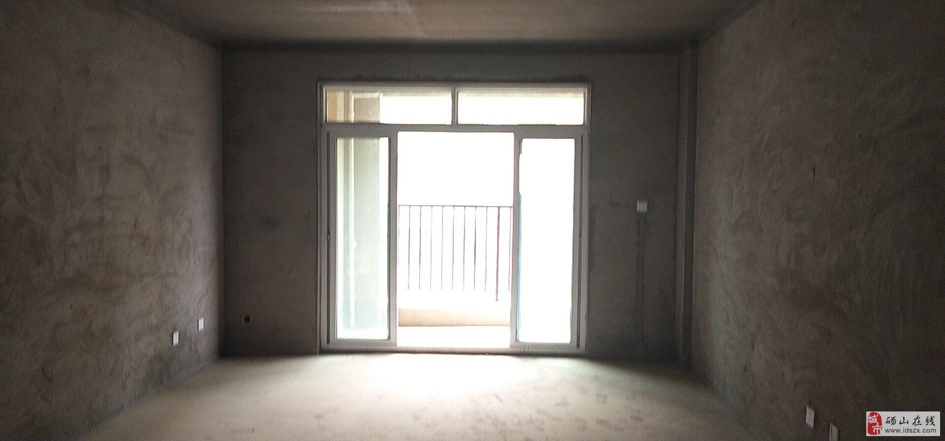 帝景水岸3楼毛坯南北通透户型方正全明户型双阳台