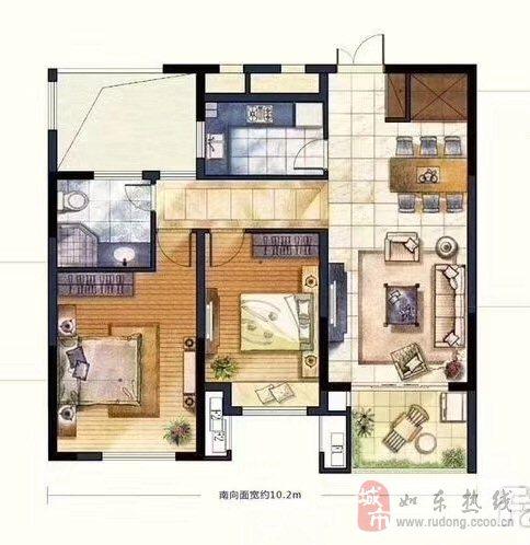 尚诚中介:昌和水岸花城2室2厅99平米96万