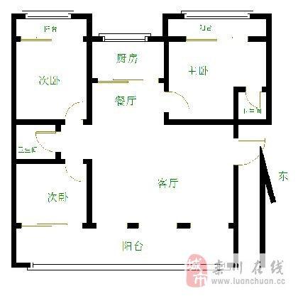 滨河花园3室2厅2卫38万元