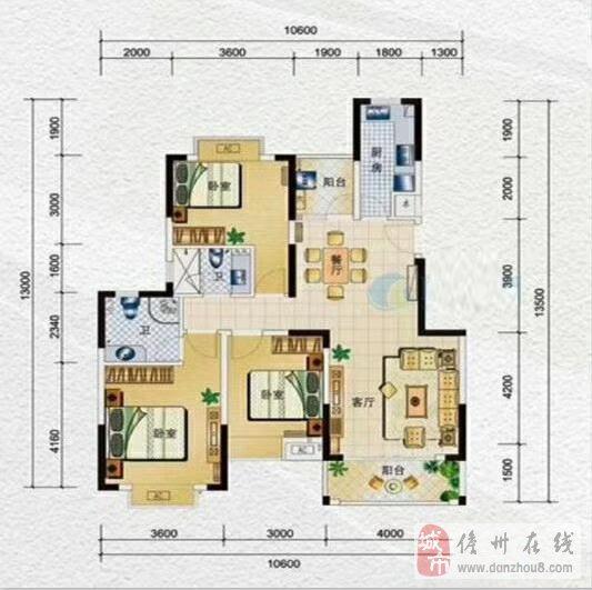 水岸名都二期精装3室2厅2卫单价7800