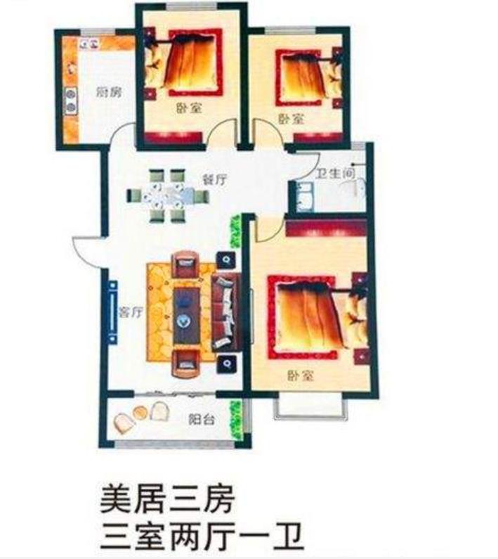出售漯北新城3室2厅1卫精装电梯洋房