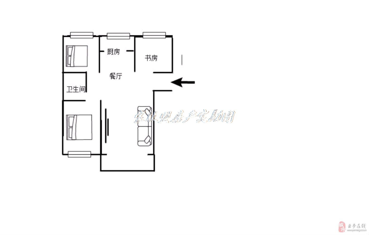 龍崗國際三室兩廳電梯房,兩證齊全,可按揭