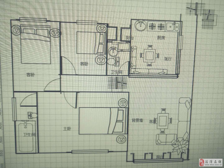 七星小区二期3室2厅2卫户型端正精装修
