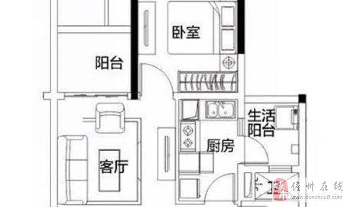 儋州海花岛60平1室2厅1卫拎包入住102万元出售