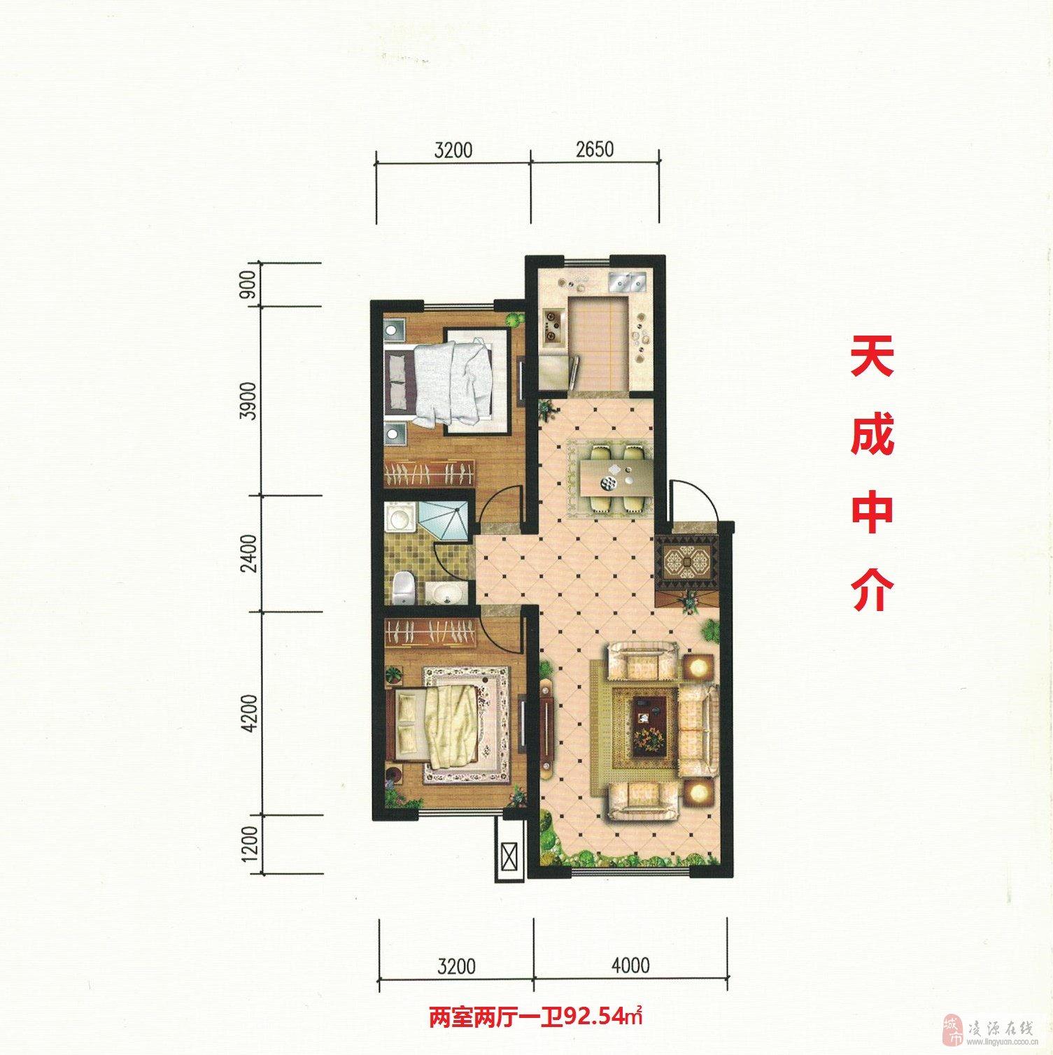世紀城三期三室8樓106平41萬元