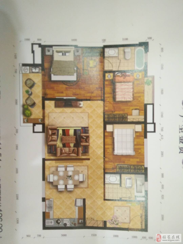 公园一号3室2厅2卫56万元业主诚心出售!!