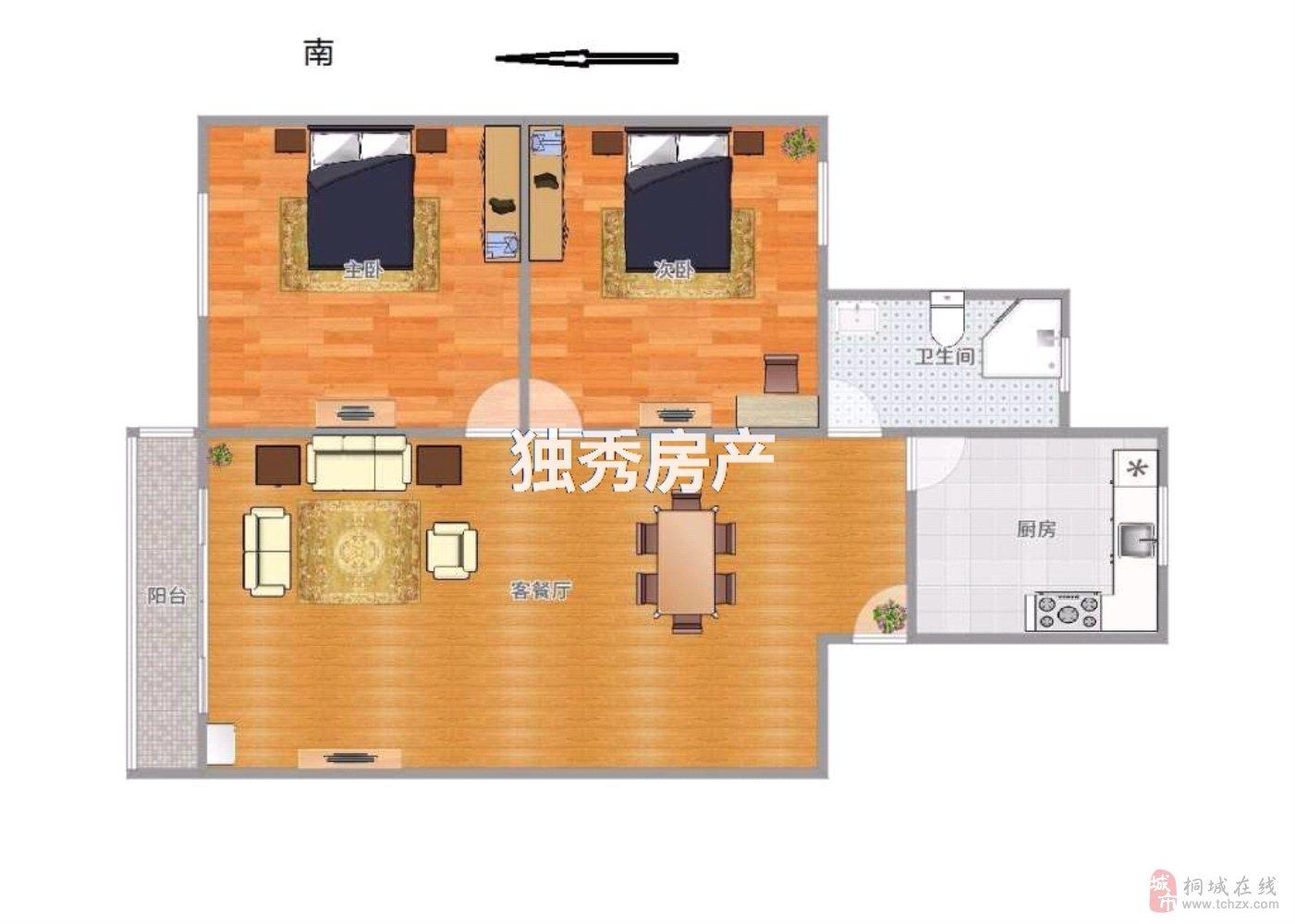 兴尔旺南园2室2厅1卫精装房只需39万