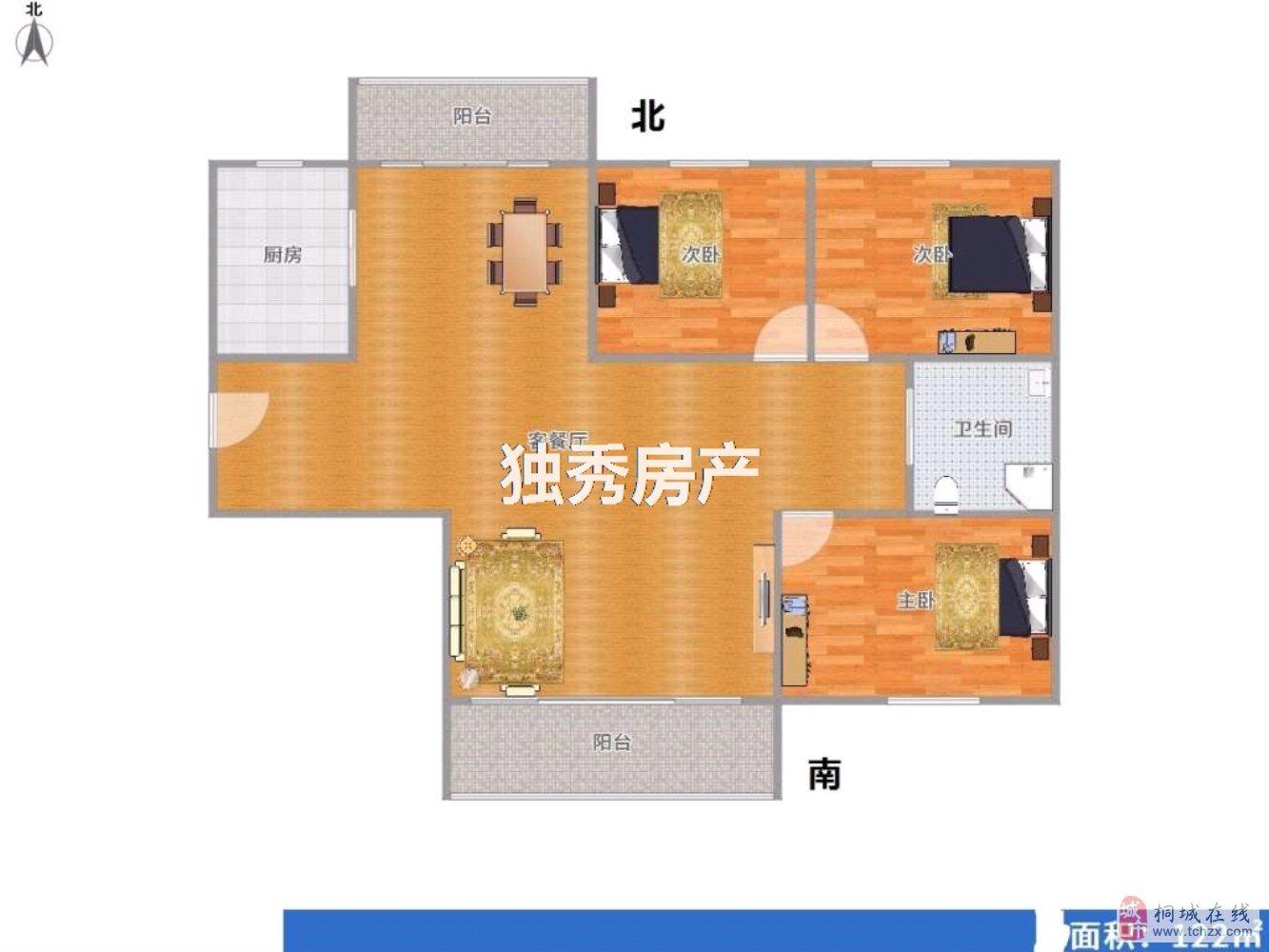 文昌大道金恒公馆新空毛坯3室