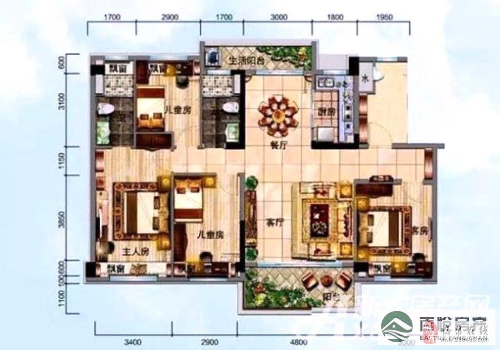临泉·碧桂园4室2厅2卫110万元