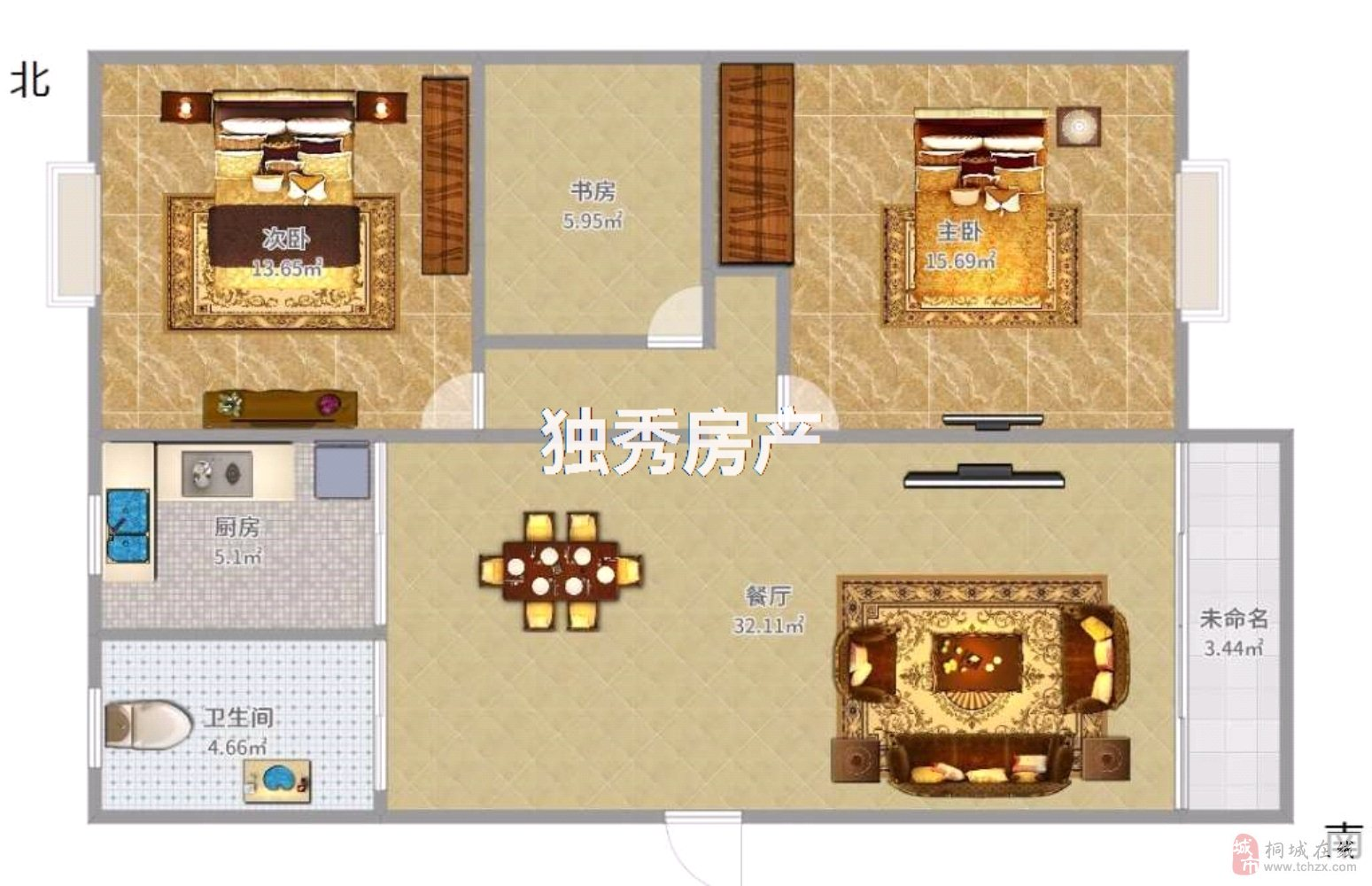 兴尔旺大市场3室2厅1卫33万元