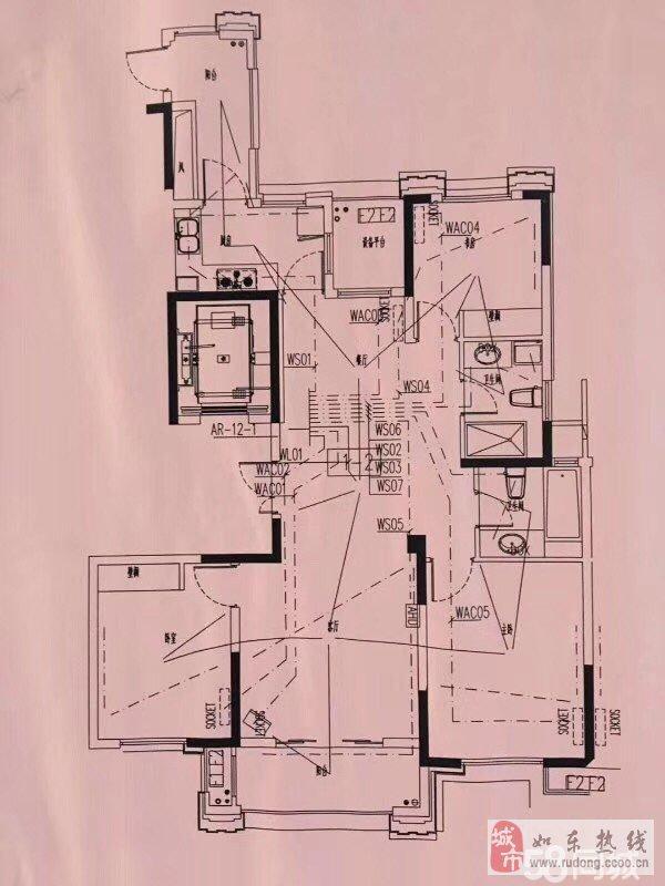 尚诚中介:锦绣福邸高层140平米140万H户型